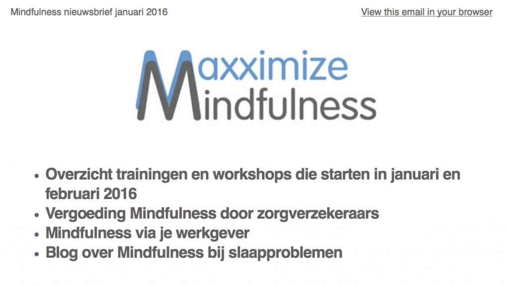 Mindfulness nieuwsbrief jan 2016
