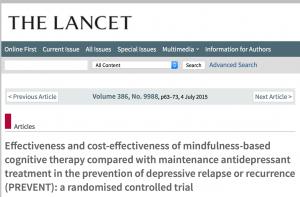 Wetenschappelijk bewijs effecten Mindfulness C